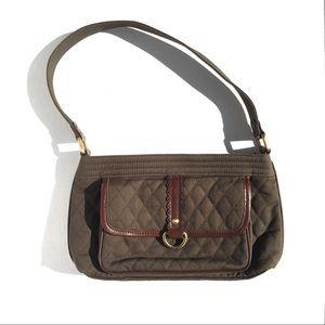Vera Bradley Olive Quilted Shoulder Bag